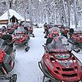 Laponie: moto-neige, <b>chiens</b> de <b>traîneau</b>, et autres activités