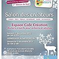 Salon des créateurs samedi 1er et dimanche 2 décembre