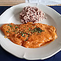 Filets de panga aux amandes et au riz rouge de Camargue