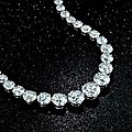 Diamond <b>rivière</b> <b>necklace</b> formerly owned by Zsa Zsa Gabor up for auction at Bonhams New York