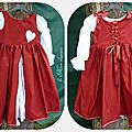 Robe couleur coquelicot