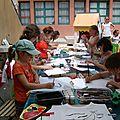 Atelier décor tee-shirts Rencontres Eco-citoyennes Mérindol 2010 - Animation écologie enfant