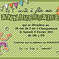 carte d'invitation anniversaire matéo