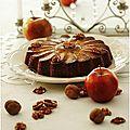 Gâteau aux pommes, noix et vanille.......