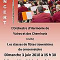 Concert à vaires le 3 juin
