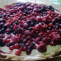 Tarte fraîche mascarpone au chocolat blanc/fruits rouges