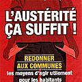 Austerite, protestation des elus