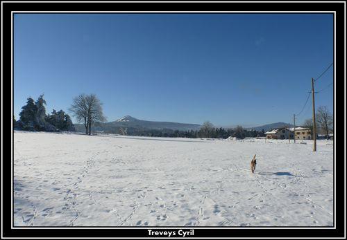 2008 12 27 Le paysage enneige, vu sur le Lizieux