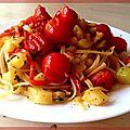 Linguines e verdure del sole