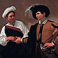 Les tableaux du Caravage à Rome (10/20). N°6 - Palais des Conservateurs – La Diseuse de Bonne <b>aventure</b> et Saint-Jean-Baptiste
