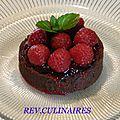 Tarte chocolat -framboises menthe