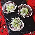 Tartare de Saint Jacques au kiwi, idée apéritif