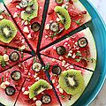 Les pizzas estivales aux fruits