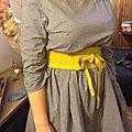 Robe RAYMONDE en coton vichy noir et blanc à manches 3 quart - taille 40 (6)