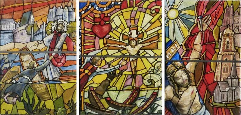 Des vitraux des Noyades de Nantes pour le château de Vair