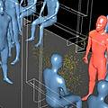 Sciences - Education à la santé : Simulation de l'infection qui se produit dans une <b>rame</b> de métro