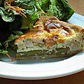 Tarte blanc de poulet et asperges vertes
