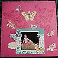 <b>Page</b> de scrap : bouquet de papillons