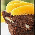 P'tit brownie chocolat noir, noix de pécan et suprêmes d'orange
