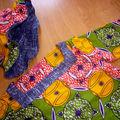 Tunique afro en coton taille 2 ans, bob réversible