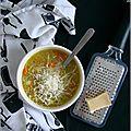 Soupe originelle au quinoa, légumes & beaufort