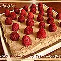 Cheesecake au chocolat et aux framboises