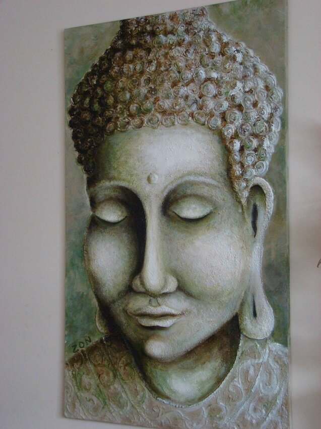 bouddha bas-relief
