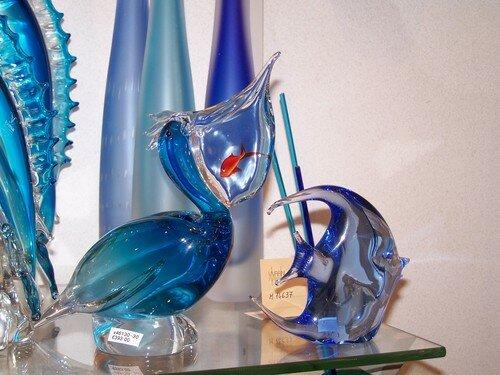 Clin d'oeil-pélican et poisson en verre de Murano de FORMIA