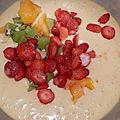 Moelleux fraise, kiwi & pêche jaune