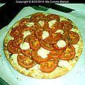 Tarte fine tomate mozzarella (recette maison)