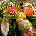 Salade de chèvre aux betteraves et à l'orange