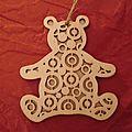 Suspension ours en bois ... de Chantal