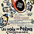 Le printemps des poètes 2013, des rives et l'association cie le corbeau blanc: les voix du poème
