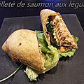 Feuilleté de saumon aux legumes
