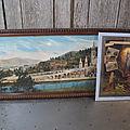 <b>Cadre</b> avec Vue Panoramique et Glacoide Religieux Lourdes Pyrénées.