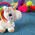 Mini licorne [crochet]