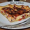 Tarte poulet-poivrons-chorizo