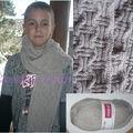 Basketweave scarf en