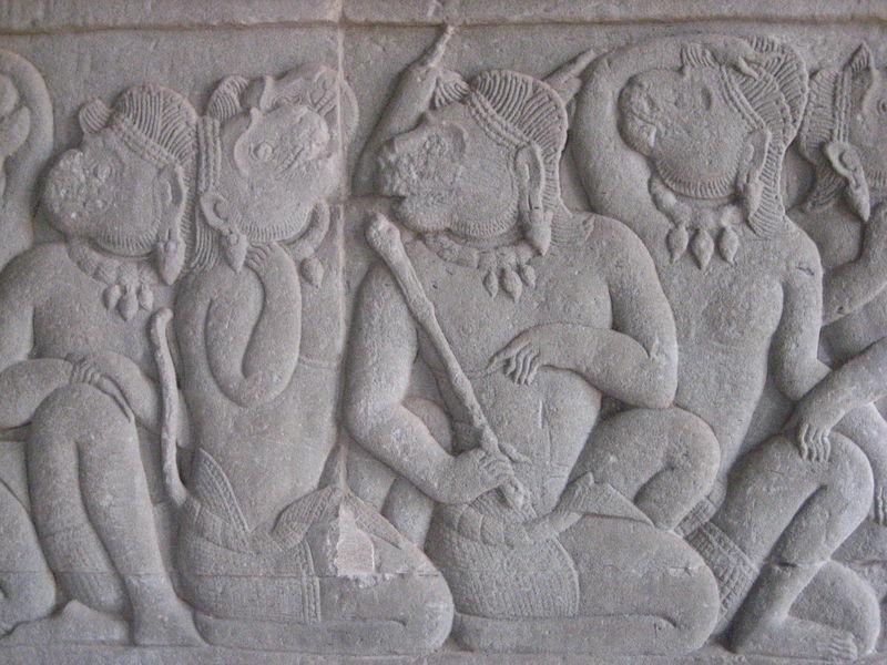Angkor Wat (pavillon SO, le roi singe Valin pleuré par ses sujets)