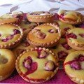 Tartelettes amandine aux framboises