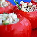 Tomates farcies au thon et aux cocos de paimpol