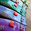 Cat hair barrettes_detail