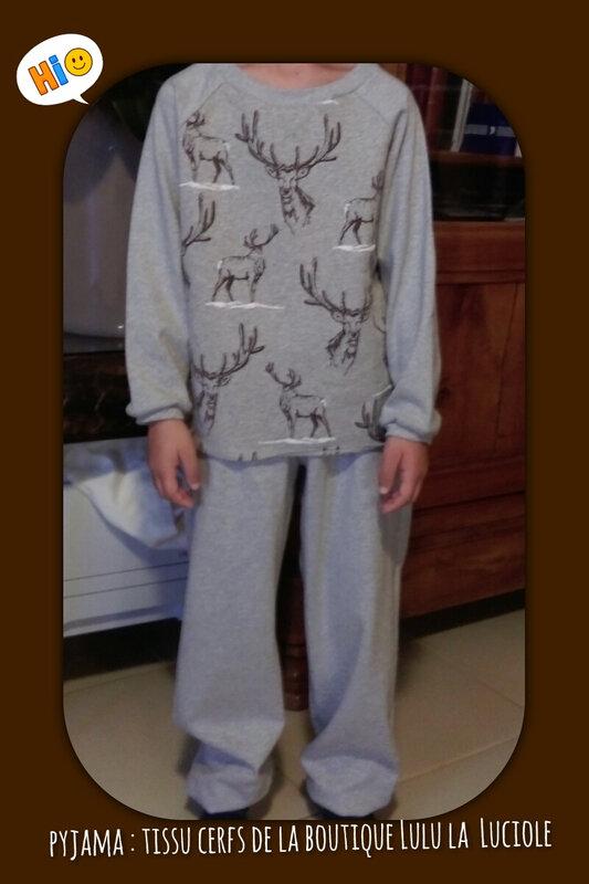 pyjama cerf