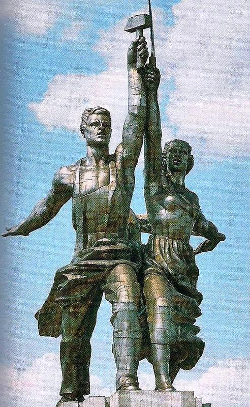 sculpture homme nouveau URSS
