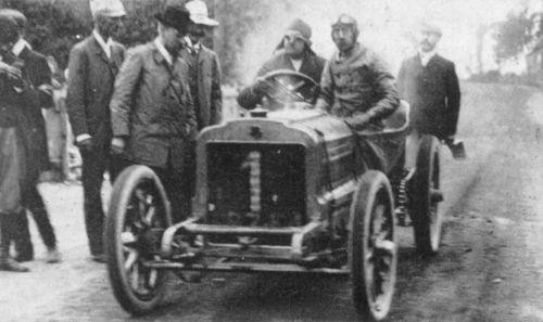 1905 gordon bennett trophy, circuit d'auvergne - léon théry (richard-brasier 4-cyl 11,3-litre 96hp) 1st 3