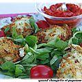 Croquettes de morue et sauce tomate epicee