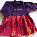 Lot #127, robe confetti 2 ans