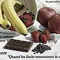 Quand les fruits rencontrent le chocolat