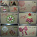 Une série de mini-cartes de noël personnalisées