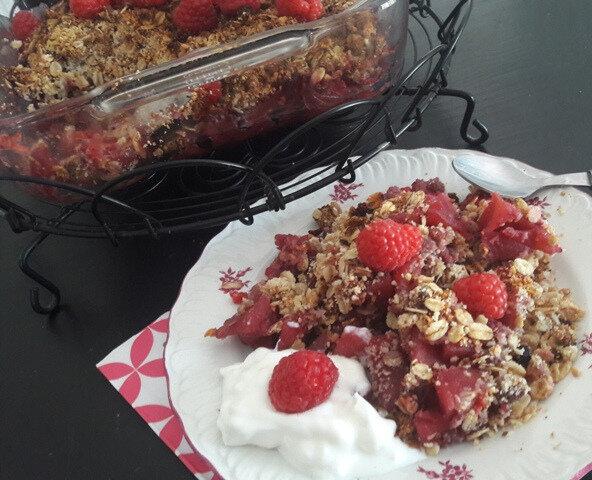 crumble muesli-pommes-fruits rouges (1)